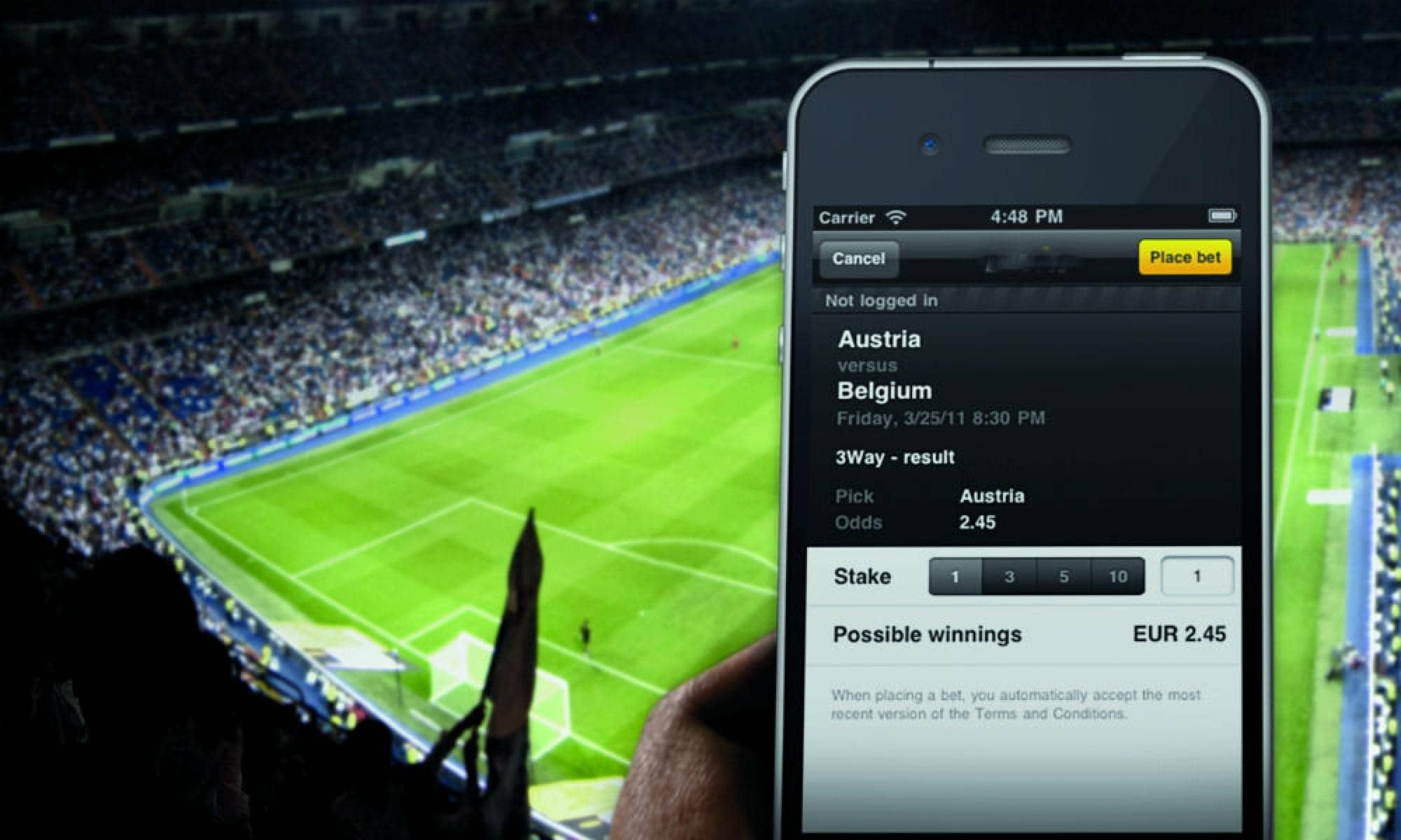Why you can now place bets using your mobile device